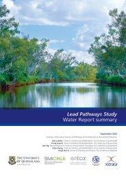 Lead Pathways Study Water Report summary - Mount Isa Mines