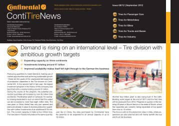 Download ContiTireNews (PDF) - Continental Tyre Group AG