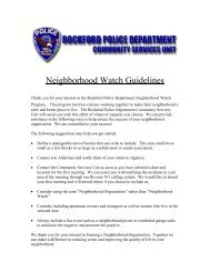 How to start a neighborhood watch group - the City of Rockford