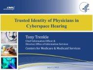 Federal Advisory Committee Trenkle - HealthIT.gov