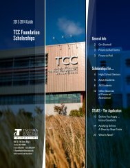TCC Foundation Scholarships - Tacoma Community College