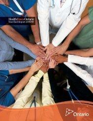HealthForceOntario Year End Report 2009