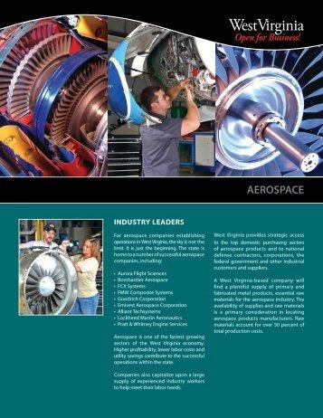 Aerospace Industry Brochure - West Virginia Department of Commerce