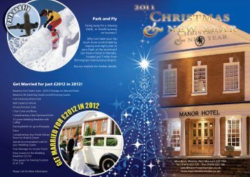 Park and Fly Get Married for just £2012 in 2012! - Manor Hotel