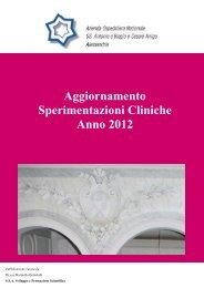 Sperimentazioni 2012 - Azienda Ospedaliera Santi Antonio e Biagio ...