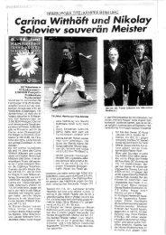 Presseberichte aus der Hamburger Tennis ... - Tennisclub Wedel