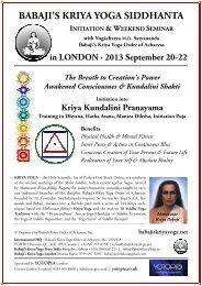 First Initiation Seminar - Babaji's Kriya Yoga