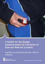 Section 8: A guide to evaluating exercise referral schemes This ...