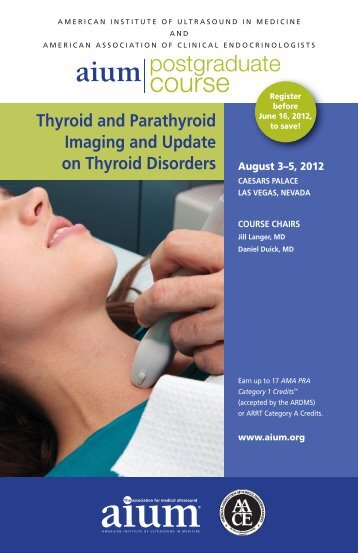 Thyroid and Parathyroid Imaging and Update on Thyroid ... - AIUM