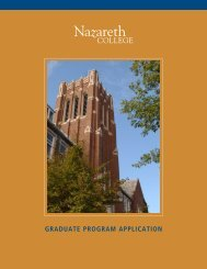 graduate program application - Graduate Admissions - Nazareth ...