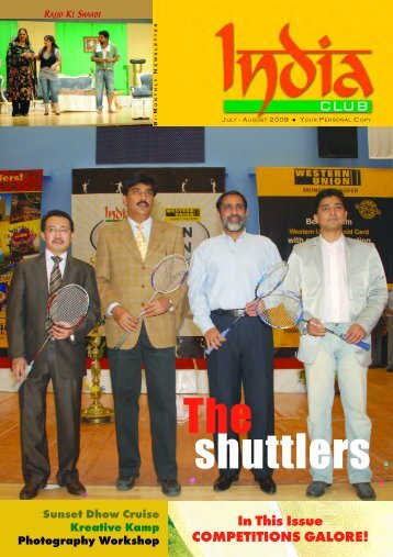 shuttlers The - India Club, Dubai, UAE