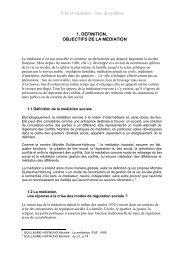Ville et médiation. Dossier documentaire. - Centre de documentation ...
