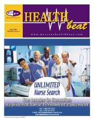 May 2005 Volume 8, Issue 4 - McCrone Healthbeat