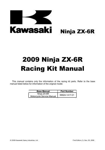 2007 ninja zx 6r racing kit manual factory pro rh yumpu com 2005 Kawasaki ZX6R 2005 Kawasaki ZX6R