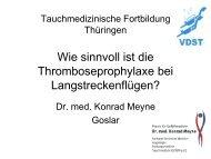 Reisemedizin, Thromboseprophylaxe - LTVT