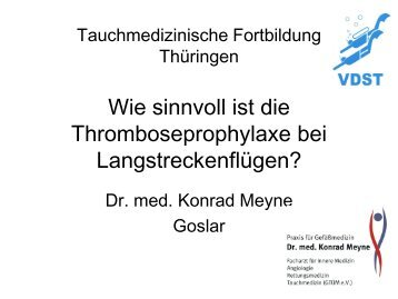 Reisemedizin, Thromboseprophylaxe - LTVT