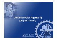 Antimicrobial Agents (I) - CC