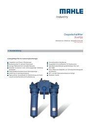 Doppelschaltfilter Pi 4700 - MAHLE Industry - Filtration