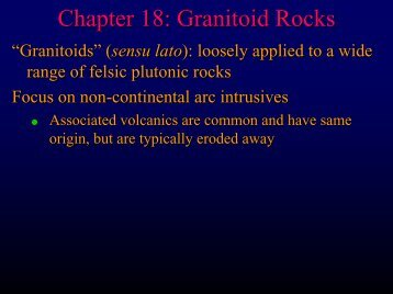 Chapter 18: Granitoid Rocks - Faculty web pages