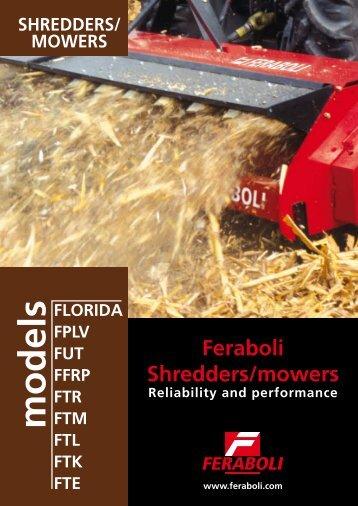 Feraboli Shredders/mowers