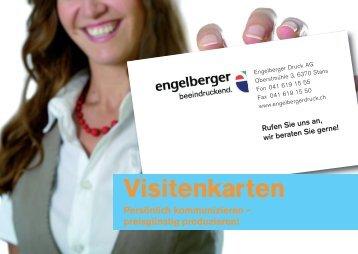 Visitenkarten - Engelberger Druck AG