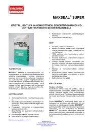 MAXSEAL SUPER - Muottikolmio Oy