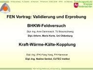 Validierung und Erprobung - Forschungsverbund Energie ...