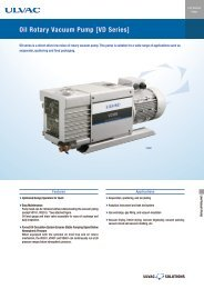 Oil Rotary Vacuum Pump [VD Series] - ULVAC Technologies