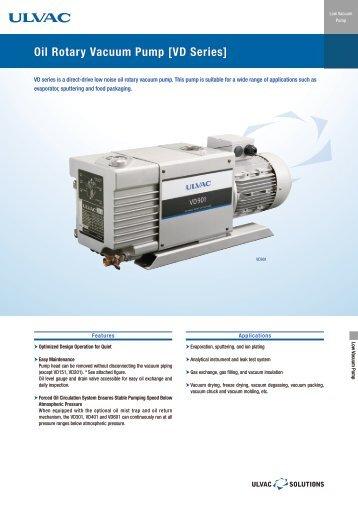 Oil Rotary Vacuum Pump [VD Series] - ULVAC Technologies