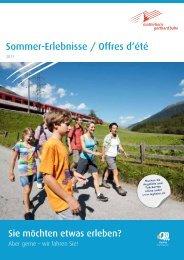 Sommer-Erlebnisse / Offres d'été - Matterhorn Gotthard Bahn