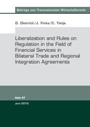 Liberalization and Rules on Regulation in the Field of Financial ...