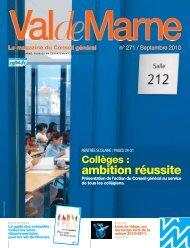 ValdeMarne n°271 / Septembre 2010 - Conseil général du Val-de ...