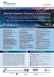 world islamic Finance Conference - Institute for Islamic Banking and ...