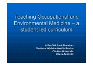 Teaching Occupational and Environmental Medicine – a student led ...