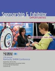 Sponsorship & Exhibitor - Kentucky SHRM Conference