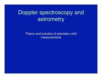 Doppler spectroscopy and astrometry