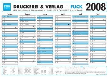 Fuck Kalender A4 2008