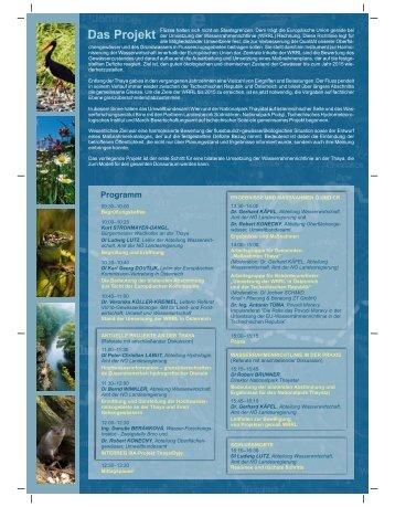 Das Projekt - Grenzüberschreitendes Projekt Thaya - Nationalpark ...