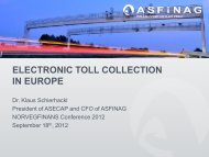ELECTRONIC TOLL COLLECTION IN EUROPE - Norvegfinans