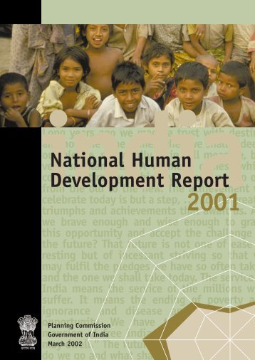 National Human Development Report: 2001 - Indira Gandhi Institute ...