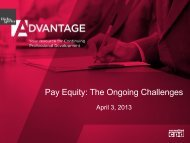 Pay Equity: The Ongoing Challenges - Hicks Morley