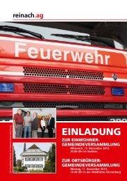 Einladung zur Budget-Gemeindeversammlung vom 13.11 ... - Reinach
