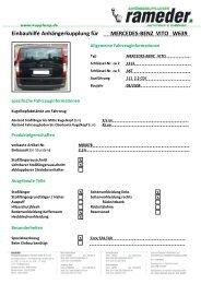 Einbauhilfe Anhängerkupplung für MERCEDES-BENZ VITO W639