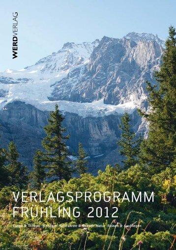 Verlagsprogramm Frühling 2012