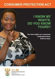 Consumer ProteCtion ACt i know my rights. Do you know yours?