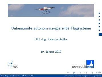 Unbemannte autonom navigierende Flugsysteme