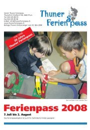 Ferienpass 2008 7.Juli bis 2. August - Thuner Ferienpass
