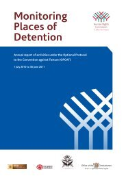Monitoring Places of Detention - Human Rights Commission