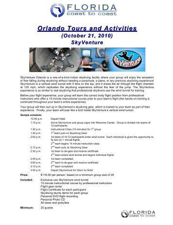Orlando Tours And Activities – (October 21, 2010) - XanGo