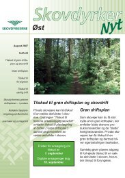 Grøn driftsplan Tilskud til grøn driftsplan og skovdrift